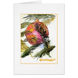 Ornamento bonito del navidad tarjeta de felicitación