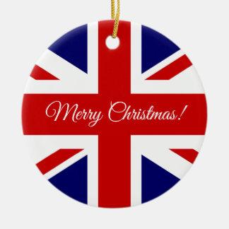 Ornamento británico del árbol de navidad de la