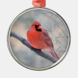 Ornamento cardinal del personalizado de la cala adorno navideño redondo de metal