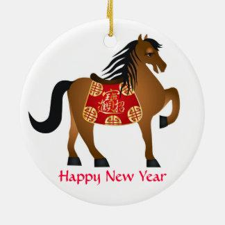 Ornamento chino del caballo del zodiaco del Año Nu Ornatos