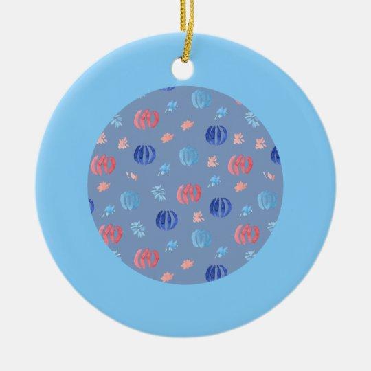 Ornamento chino del círculo de las linternas adorno navideño redondo de cerámica