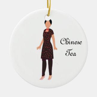 Ornamento chino del recuerdo del té del