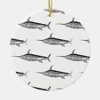 Ornamento colgante de los peces espadas