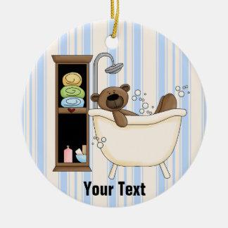 Ornamento colgante del cuarto de baño adorno navideño redondo de cerámica