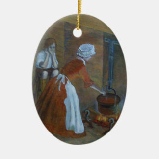 Ornamento colonial del cocinero adornos de navidad