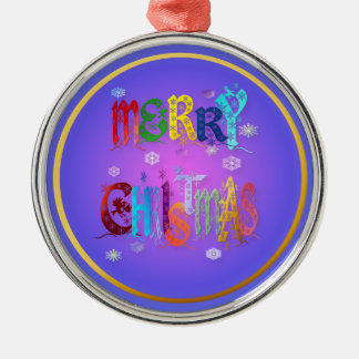 Ornamento colorido de las Felices Navidad Adorno Navideño Redondo De Metal