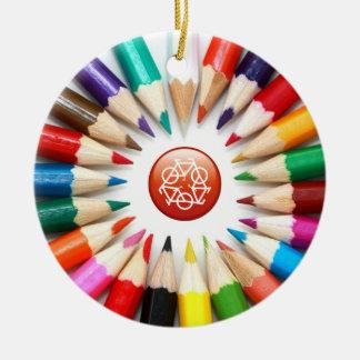 Ornamento colorido de los lápices adorno de navidad