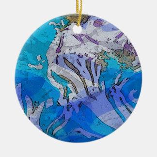 Ornamento colorido del arte abstracto en azules