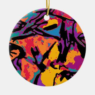 Ornamento colorido del coleccionable del confeti