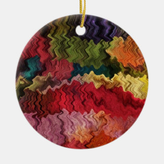 Ornamento colorido del extracto de la tela ornamento de reyes magos