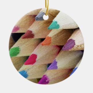 Ornamento colorido del navidad de los lápices ornato