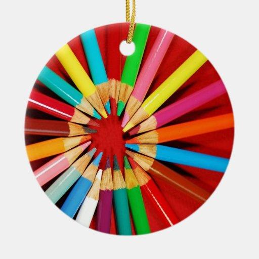 Ornamento colorido del navidad del creyón del lápi ornamentos de reyes magos