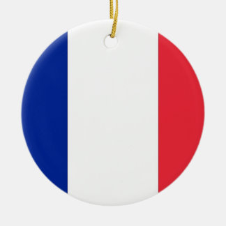 Ornamento con la bandera de Francia Adorno