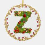 ornamento con monograma inicial del navidad de Z - Ornamento Para Reyes Magos