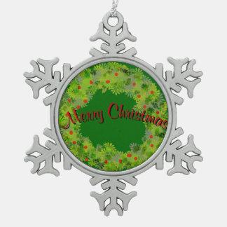 Ornamento - copo de nieve - guirnalda con el adornos