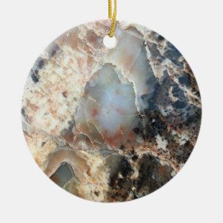 Ornamento cristalino manchado