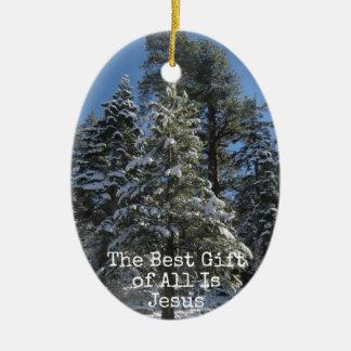 Ornamento cristiano del navidad - el mejor regalo