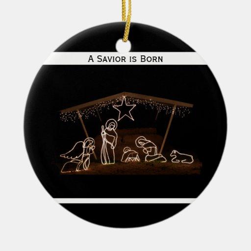 Ornamento cristiano religioso del navidad - pesebr ornamentos de reyes