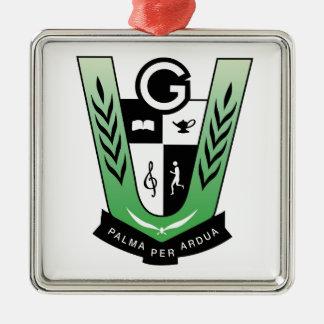 Ornamento cuadrado de GRAYDON__2017_CREST