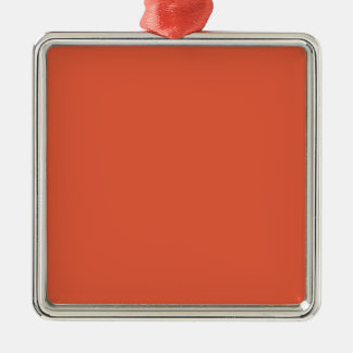 Ornamento cuadrado superior anaranjado impactante