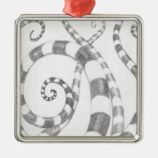 Ornamento cuadrado superior de los tentáculos raya ornamento para reyes magos