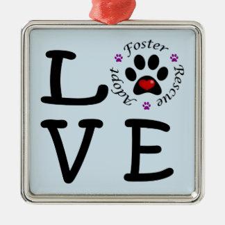 Ornamento cuadrado superior del amor animal del