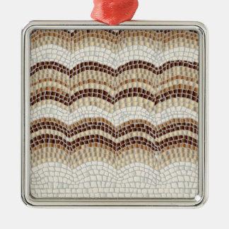 Ornamento cuadrado superior del mosaico beige