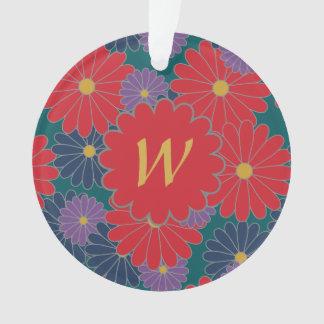 Ornamento de acrílico floral de la caída líquida