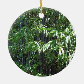Ornamento de bambú adorno redondo de cerámica