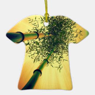 Ornamento de bambú de la camiseta del cielo adorno de cerámica en forma de camiseta