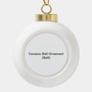 Ornamento de cerámica de la bola (Bell) Adorno De Cerámica En Forma De Bola