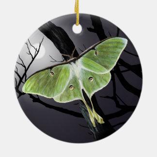 Ornamento de cerámica de la polilla de Luna