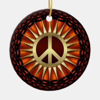 Ornamento de cerámica de la sol de oro de la paz adorno para reyes