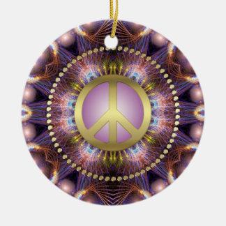 Ornamento de cerámica de NewAge del signo de la pa Adornos