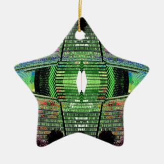 Ornamento de cerámica del diseñador de la estrella adorno de cerámica en forma de estrella
