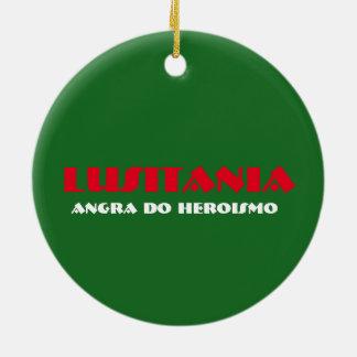 Ornamento de cerámica del navidad de Angra del