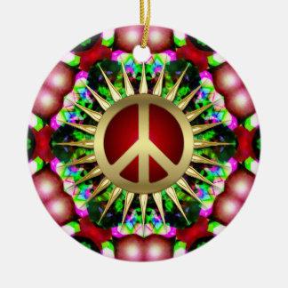 Ornamento de cerámica del navidad del hexágono del ornato