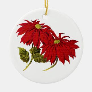 Ornamento de cerámica del Poinsettia