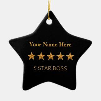 Ornamento de cinco estrellas de la estrella del adorno navideño de cerámica en forma de estrella