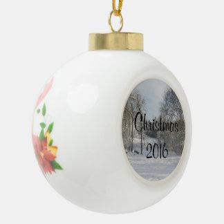 Ornamento de encargo de la bola del mensaje del adorno de cerámica tipo bola