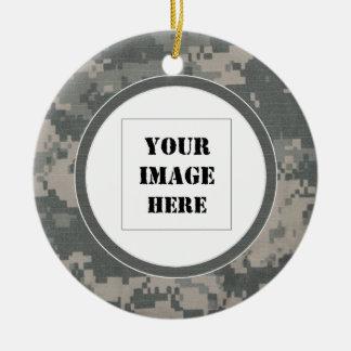Ornamento de encargo de la foto del camuflaje del