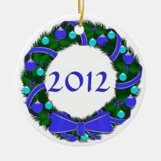 Ornamento de encargo de la guirnalda 2012 de Jánuc Ornamentos De Reyes Magos