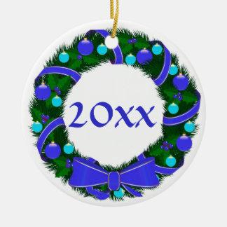 Ornamento de encargo de la guirnalda de Jánuca del Ornamentos Para Reyes Magos