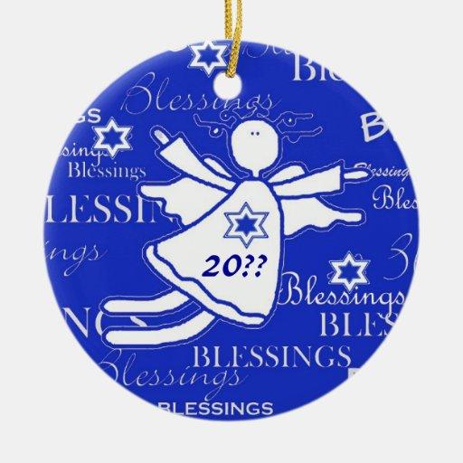 Ornamento de encargo del año de Jánuca de las Adorno Para Reyes