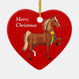 Ornamento de encargo del navidad de Saddlebred del