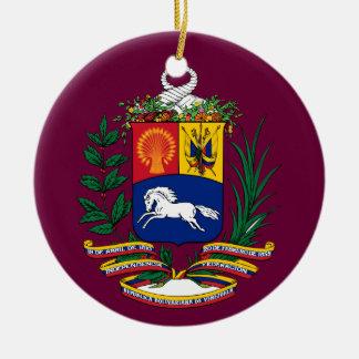 Ornamento de encargo del navidad de VENEZUELA* Adorno Navideño Redondo De Cerámica