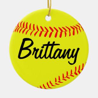 Ornamento de encargo del navidad del softball