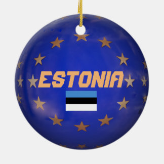Ornamento de Estonia E.U. Custom Christmas