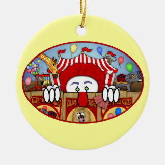 Ornamento de Kilroy del payaso de circo Adorno Navideño Redondo De Cerámica