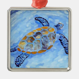Ornamento de la acuarela de la tortuga de mar